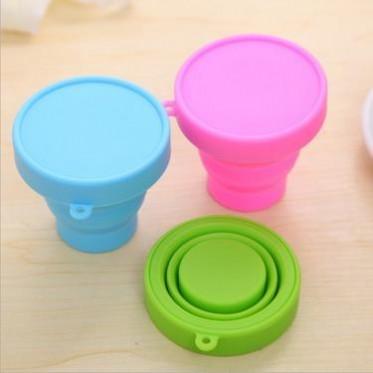 硅胶折叠杯子 可折叠水杯 多功能户外旅游便携伸缩迷你彩色旅行杯