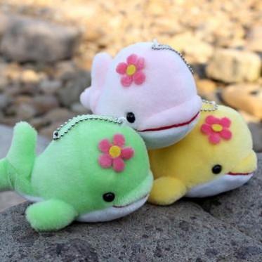小海豚公仔毛绒玩具 创意小礼品卡通鲸鱼手机链包包小挂件 批发