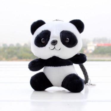 创意熊猫公仔毛绒玩具毛绒汽车钥匙扣挂件包包挂饰 活动促销礼品