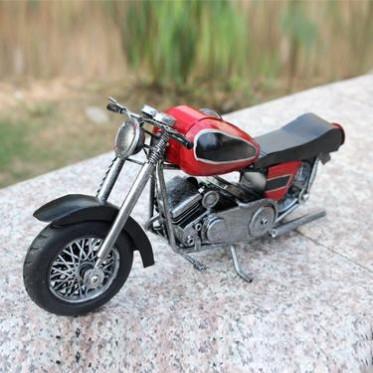 Zakka杂货手工艺品 新款彩色摩托车 仿古系列 家居办公装饰摆件