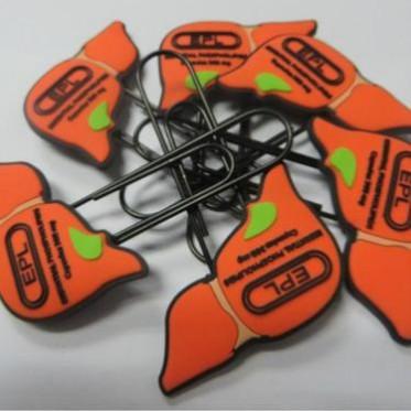 专业定制时尚简约PVC软胶回形针,定制多种款式,各种颜色回形针