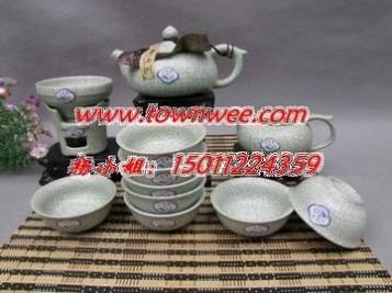 陶瓷瓷板画定制-旅行茶具青瓷茶具-陶瓷茶具定做-陶瓷茶叶罐-方形
