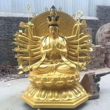 寺庙铜佛像 千手观音铜佛像 西方三圣 如来佛 弥勒佛 鎏金铜佛像
