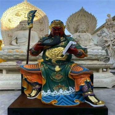 佛教护法关公韦陀菩萨雕塑厂家 树脂关公像批发 玻璃钢韦陀菩萨定做厂家