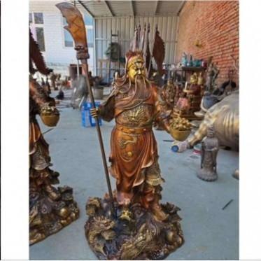 铸铜关公像 铸铜九龙关公提刀关公 1.8米关公铸造厂