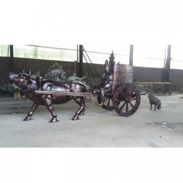 铸造铸铜华尔街牛公司 永飞雕塑 铸铜华尔街牛