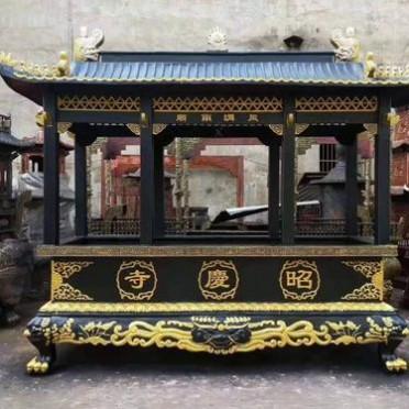 铸铁长方形香炉厂家 长方形铸铁香炉批发 昌东工艺铸铁香炉定做