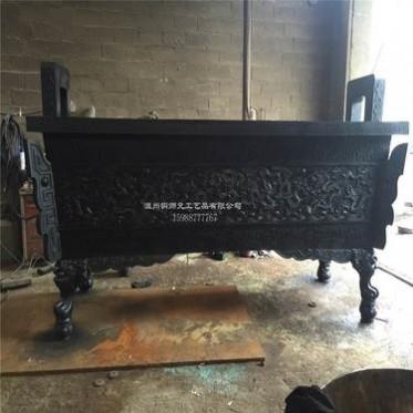厂家直定制大型仿古铜铸香炉工艺品四方铜鼎摆件大号纯铜香炉宝鼎