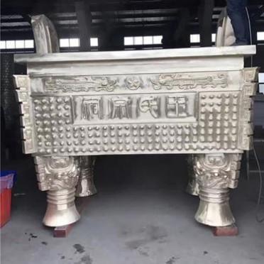 厂家批发寺庙大型铜香炉 方形平口宗祠道观香炉 户外庭院铸铜鼎炉