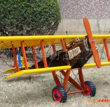 定做特大 1.2米宽黄色飞机模型 战斗机 可吊装在屋顶 店铺展示