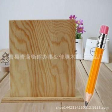 实木笔筒创意时尚 多功能简约原木质文具办公用品桌面摆件