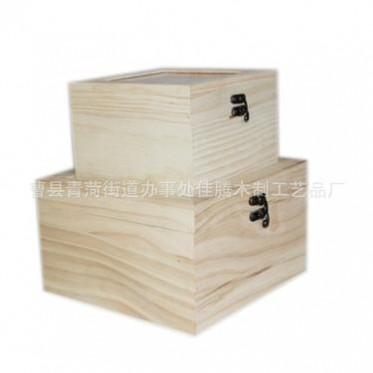 厂家定制批发创意圣诞礼品盒小木盒 木制首饰盒 收藏收纳储物盒