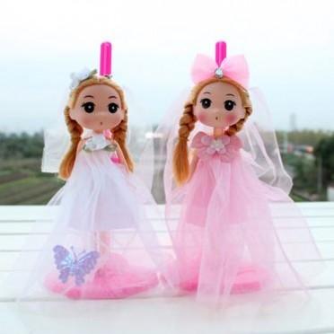 18cm大婚纱迷糊娃娃钥匙扣挂件 搪胶女孩婚纱娃娃 婚庆公仔