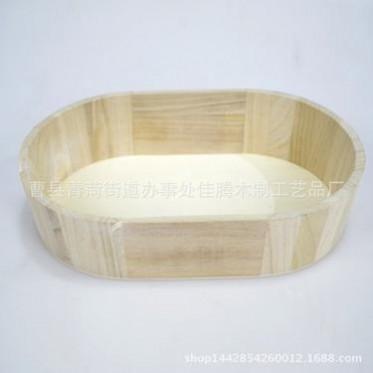 厂家直销 环保家居日用品木质木盆摆件 可定制