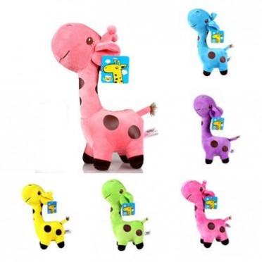 长颈鹿公仔儿童毛绒玩具 彩色圆点鹿婚庆活动促销小礼品 批发