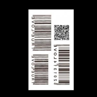 源华批发新款防水纹身贴定制二维码小清新贴纸图案批发订制