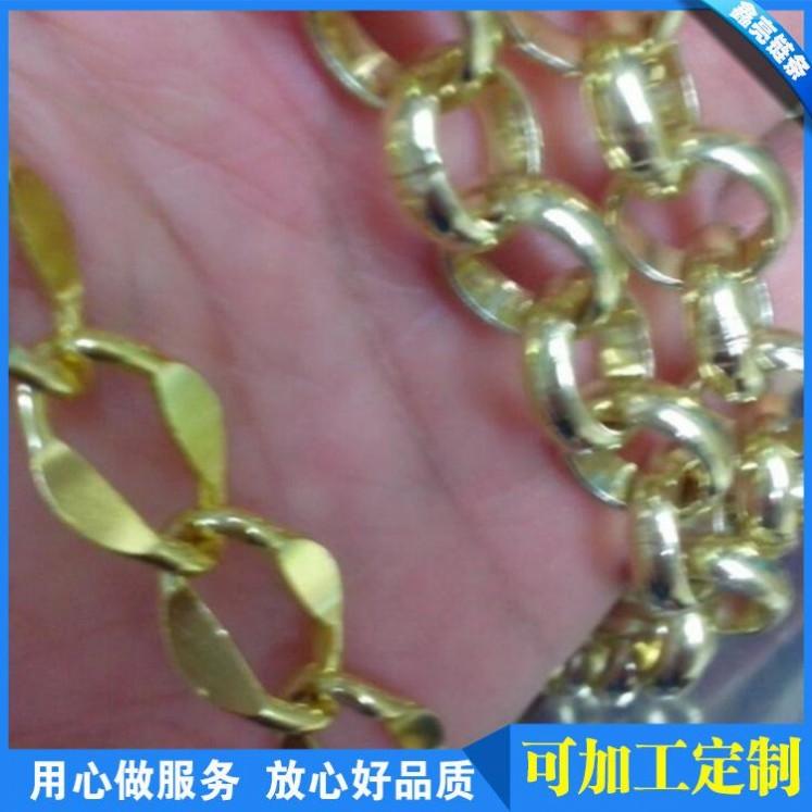 中湾锤链 1125KY 广东浅金色时尚箱包手袋挂链,欧美流行款式