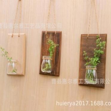 创意家居客厅电视背景墙面墙上装饰品 壁挂壁饰水培植物花盆 复古