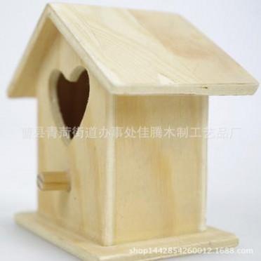 厂家批发生产 木制摆件小木屋 木鸟屋 木制鸟窝 环保创意木质品