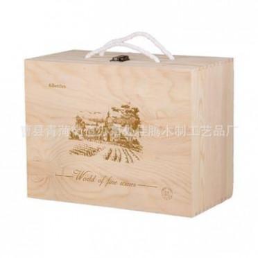 木制六支酒盒木盒包装礼盒 厂家直销加工定做木制品