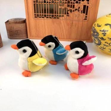 企鹅公仔毛绒玩具 可爱彩色企鹅钥匙扣车包包挂件 玩偶挂饰 批发