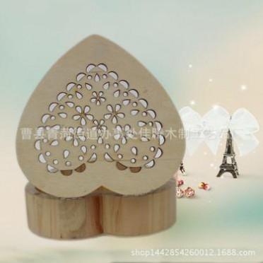 厂家定做木质心形礼盒 木质心形首饰盒收纳盒 专业定做包装木盒
