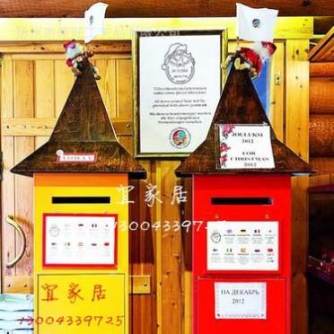 定做1米高 北极芬兰圣诞老人邮筒 适用庭院小区 咖啡馆 酒吧 展会