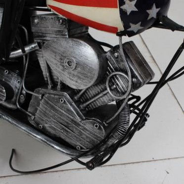 精致版纯手工复古铁艺摆件 1969印第安 摩托车模型 大号哈雷车模