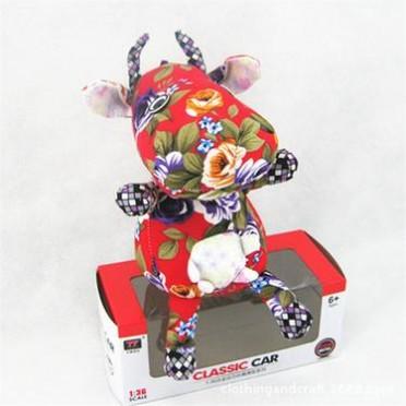 手工布艺动物玩偶公仔布娃娃小奶牛民族风DIY创意特色批发生肖