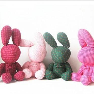 布娃娃公子爱情兔碎花兔美人兔花花兔公仔水果兔子玩具生日礼物
