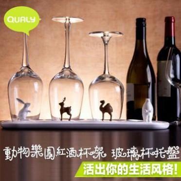 时尚塑料沥水杯架家居玻璃水杯架水果滤水盘架水杯架子