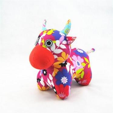新年吉祥物婚庆礼品毛绒玩具牛公仔 手工布偶娃娃生日儿童节礼物