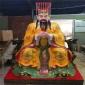 城隍爷神像定做 城隍奶奶神像批发 玻璃钢文武判官神像雕塑厂家