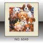 厂家直销5D画高清3D立体画芯可爱的小狗纯手绘国画油画3D立体画