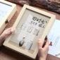 创意小清新同学录复古木盒装 初中学生毕业纪念册木制文具盒定制